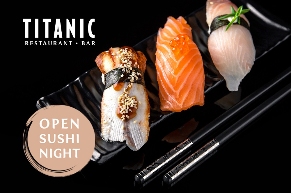 sushi nights at the titanic piano bar